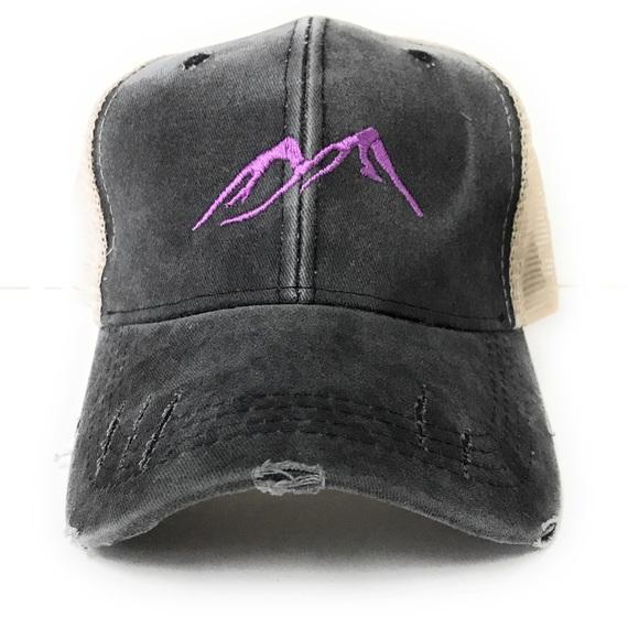 a66660d3251 Purple Mountains Men Or Women Custom Trucker Hat